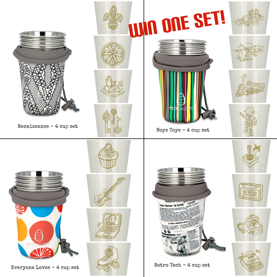 Win a set of stainless steel cups from Ecococoon US